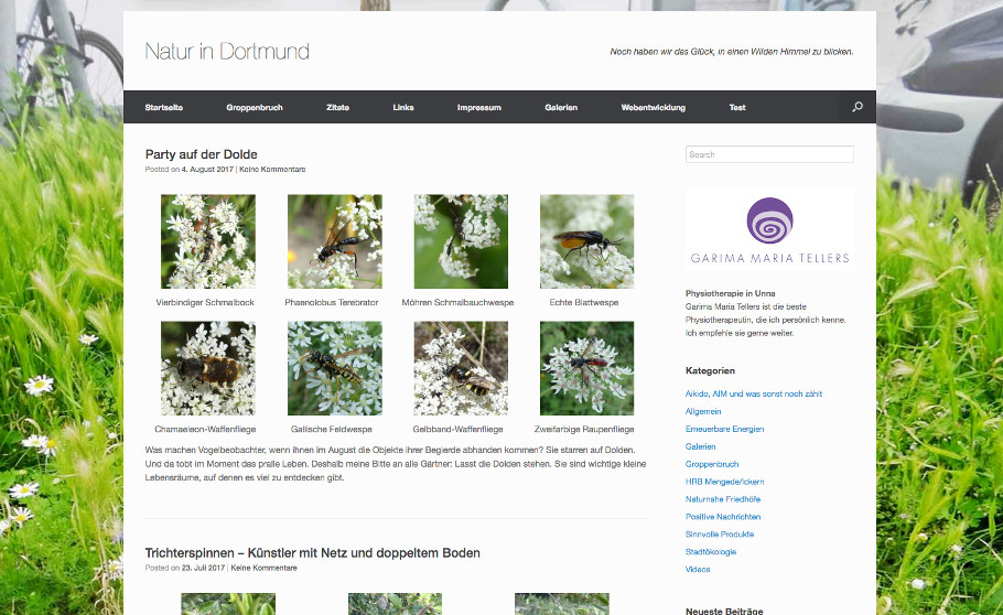 Referenz Blog Natur in Dortmund
